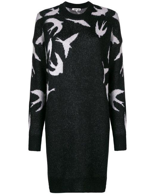 McQ Alexander McQueen - Black Swallow Sweater Dress - Lyst