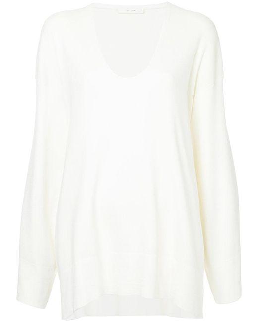The Row - White Lesli Drop Shoulder Blouse - Lyst