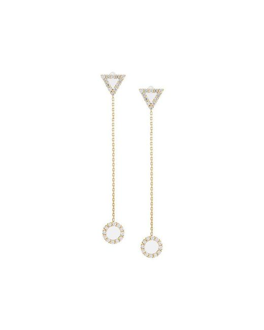 Eshvi - Metallic Diamond Drop Earrings - Lyst