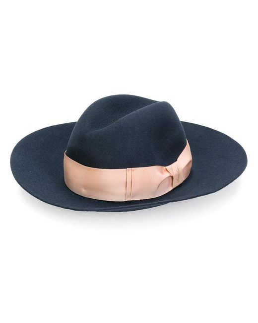 Borsalino - Blue Wide Brim Trilby Hat - Lyst