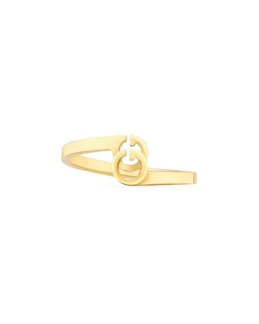 4a8bf53b7 Gucci GG Running Ring In Yellow Gold in Metallic - Save 6% - Lyst