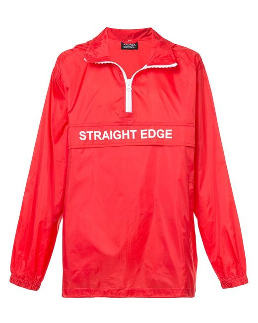 Andrea Crews - Red Straight Edge Wind Breaker for Men - Lyst