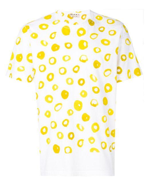 Marni | White Printed T-shirt for Men | Lyst