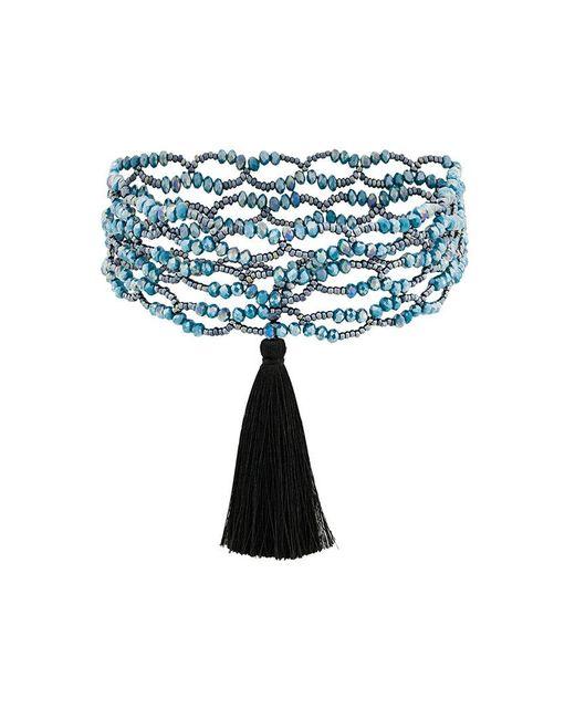 Night Market - Blue Tassel Detail Necklace - Lyst