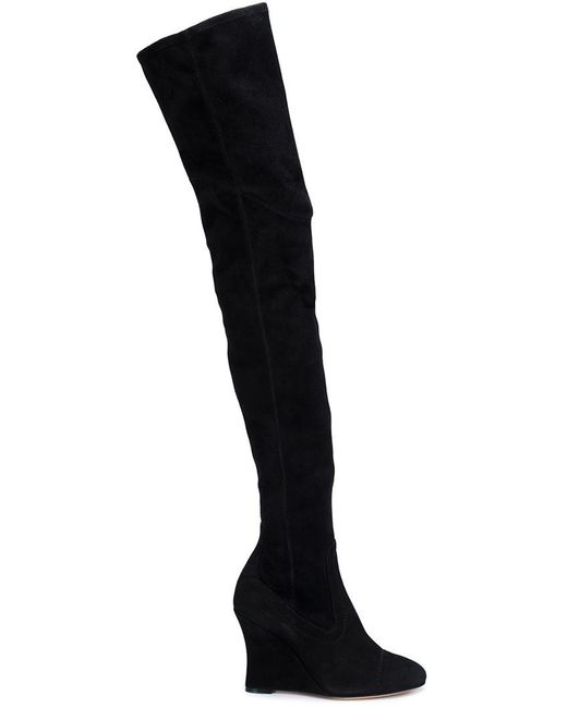 Alchimia Di Ballin - Black Thigh-high Wedge Boots - Lyst