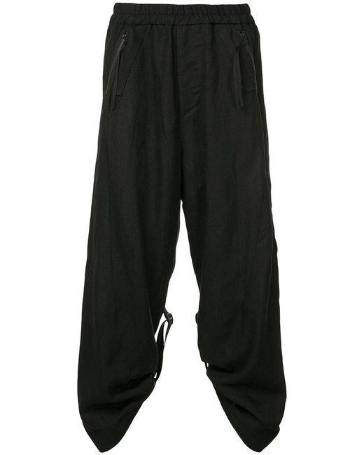 Julius - Black Loose-fit Strap Detail Trousers for Men - Lyst