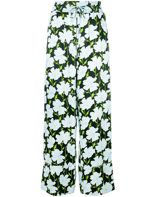 Off-White c/o Virgil Abloh - Green Fantasia Print Trousers - Lyst