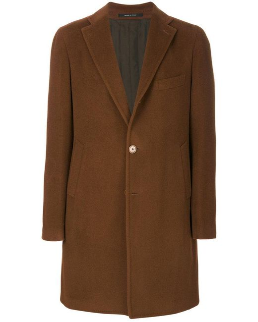 Tagliatore | Brown Single-breasted Coat for Men | Lyst