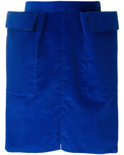 Maison Rabih Kayrouz   Blue Structured Skirt   Lyst