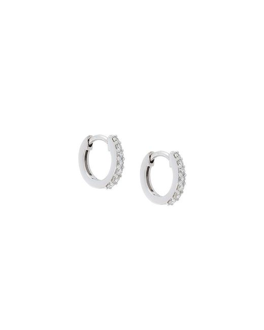 Astley Clarke - Metallic Mini Halo Diamond Hoop Earrings - Lyst