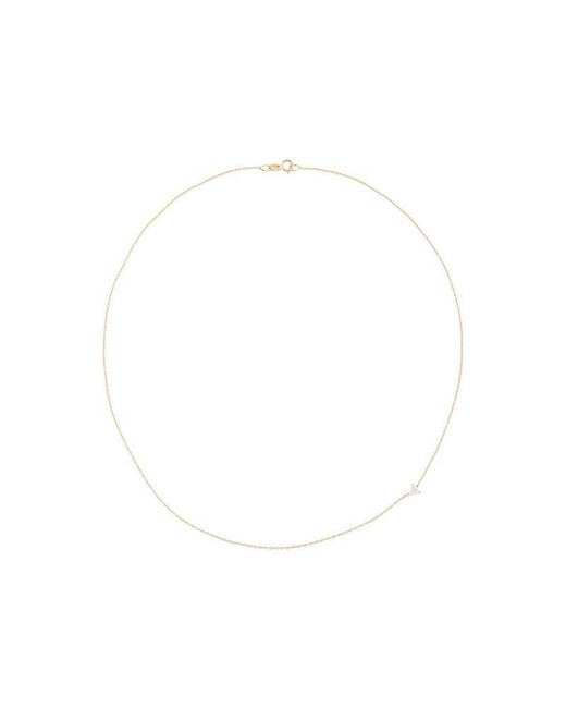 Lizzie Mandler | Metallic 18kt Gold Floating Triangle Diamond Necklace | Lyst
