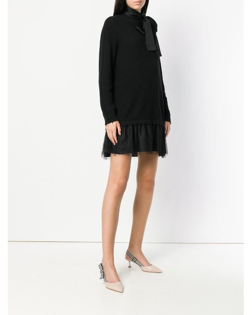 bow tie sweater dress - Grey Red Valentino vQPXW