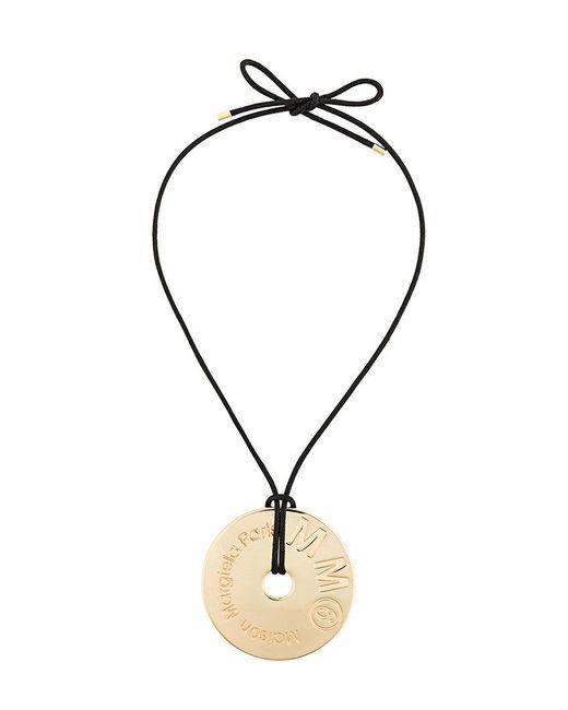 MM6 by Maison Martin Margiela - Metallic Oversized Round Pendant Necklace - Lyst