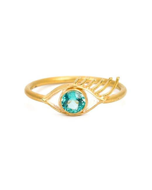 Marie-hélène De Taillac | Metallic 22kt Gold Eye Ring | Lyst