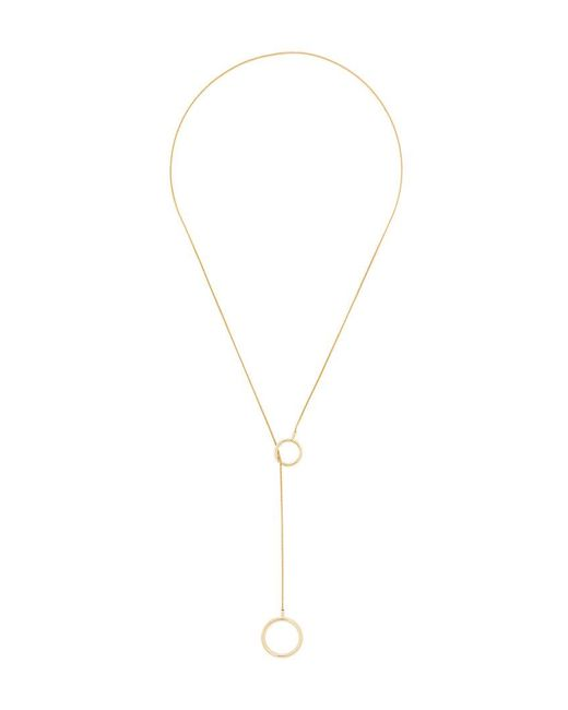 Isabel Marant - Metallic Circle Loop Necklace - Lyst