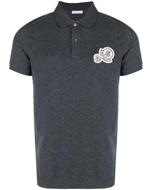Moncler - Gray Basic Polo Shirt for Men - Lyst