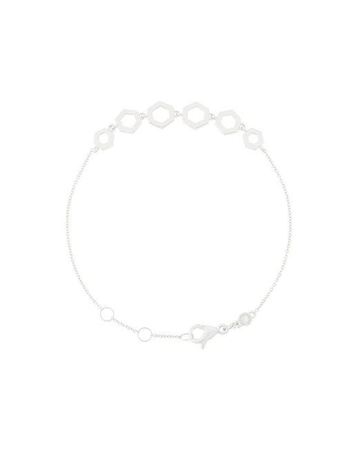 Astley Clarke | Metallic Plain Honeycomb Bracelet | Lyst