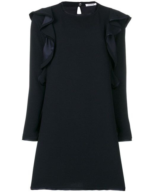 P.A.R.O.S.H. - Blue Longsleeved Shift Dress - Lyst