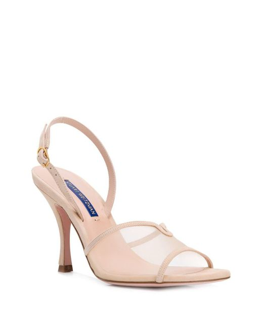 2024544df973ff ... Stuart Weitzman - Natural Bambina Cream Sandals - Lyst ...
