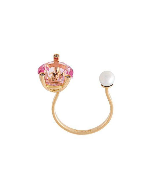 Delfina Delettrez | Multicolor 'magic Triangle Piercing' Diamond Ring | Lyst