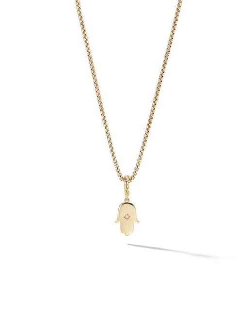 David Yurman - Metallic 18kt Yellow Gold Amulets Diamond Hamsa Pendant - Lyst