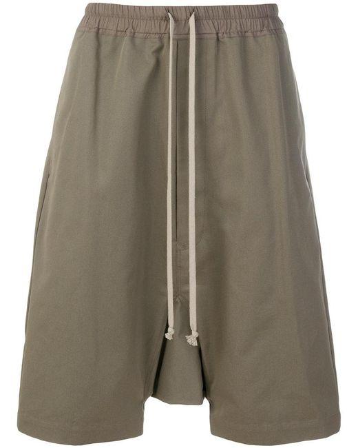 Rick Owens | Green Drop-crotch Shorts for Men | Lyst