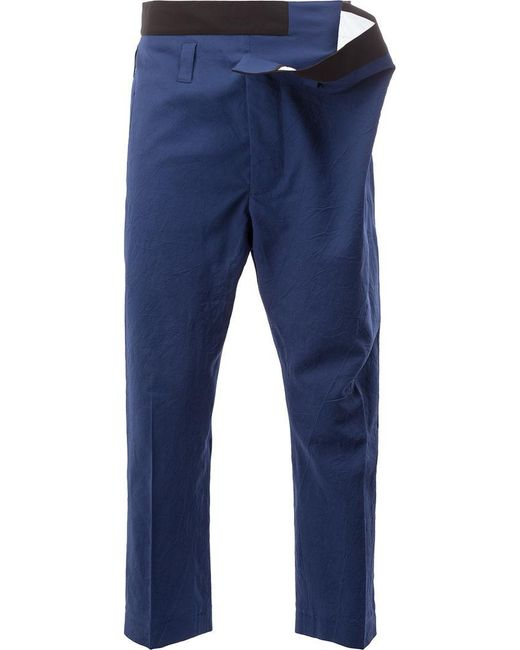 Haider Ackermann | Blue Gathered Waist Trousers for Men | Lyst
