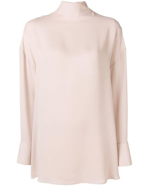 Valentino - Pink Pussybow Blouse - Lyst