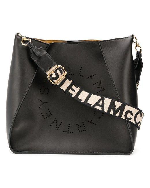 526e5b14fb Lyst - Stella McCartney Logo Shoulder Bag in Black - Save 41%
