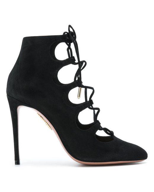 Flirt suede ankle boots Aquazzura P0yMxpJ