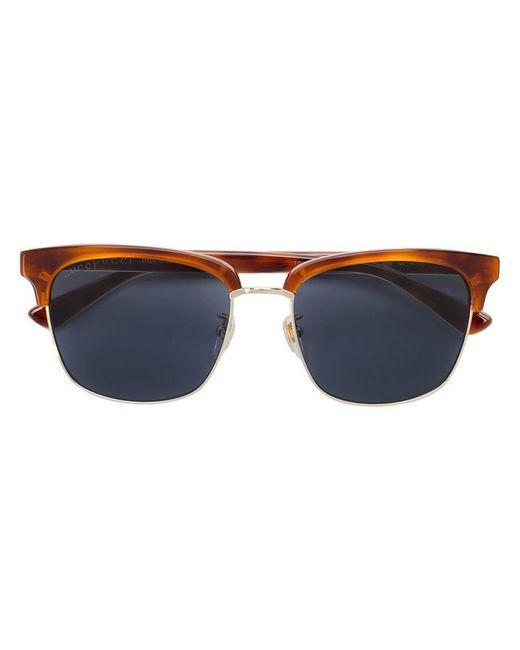 2ef33d2d47 Gafas de sol estilo Clubmaster Gucci de hombre de color Marrón - Lyst