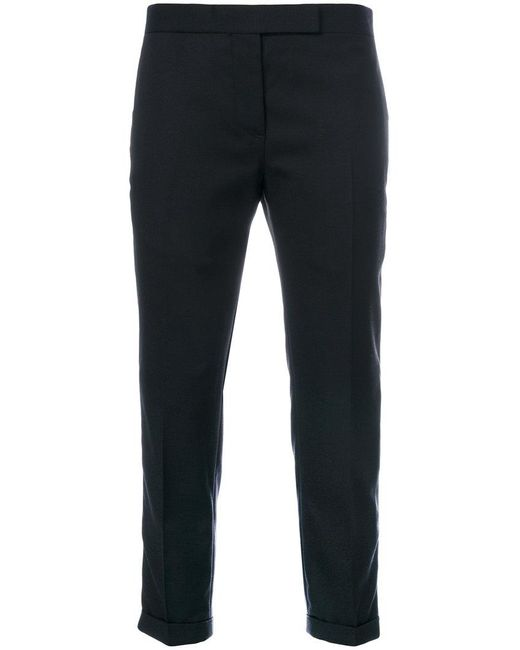 Thom Browne - Blue Cropped Trousers - Lyst
