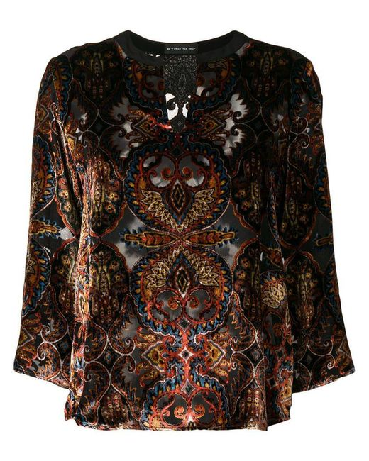 Etro - Black Patterned Blouse - Lyst