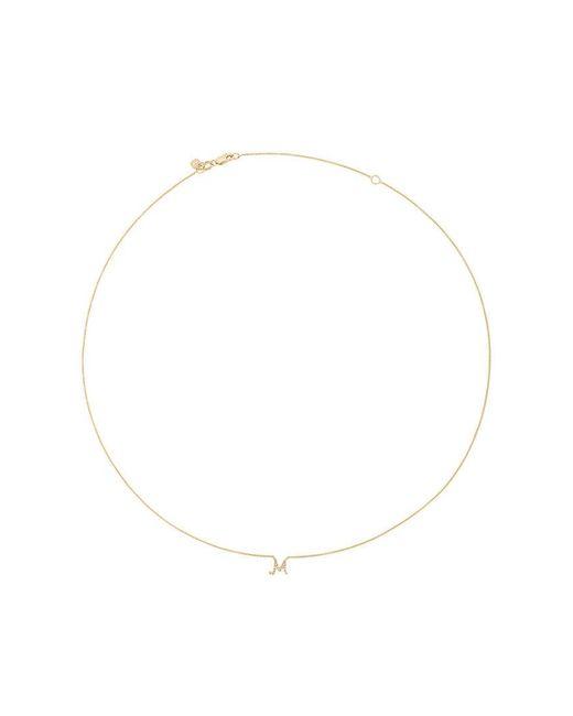 Sydney Evan | Metallic Collana Con Diamanti 'm' | Lyst
