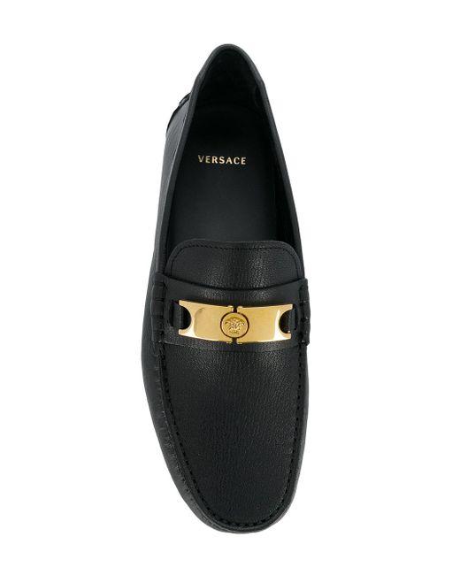 49363d1f1c5 ... Versace - Black Medusa Head Loafers for Men - Lyst