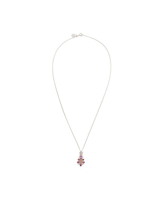 V Jewellery - Metallic Empire Pendant Necklace - Lyst