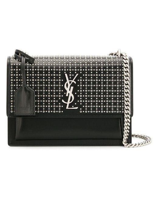 9c3a97c220eea Saint Laurent - Black Monogramme Shoulder Bag - Lyst ...