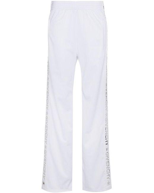 Givenchy - White Logo Stripe Track Pants - Lyst