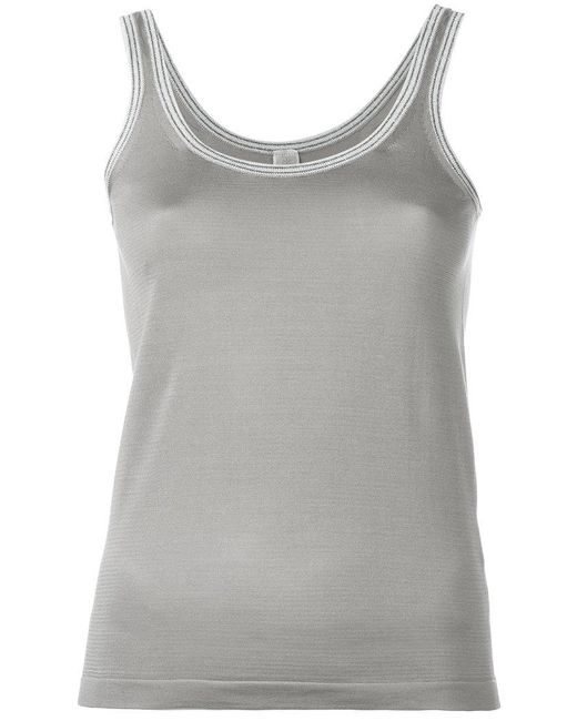 Eleventy - Gray Knitted Silk Vest - Lyst