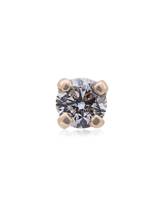 Yvonne Léon - Metallic Yellow Gold Diamond Stud Single Earring - Lyst