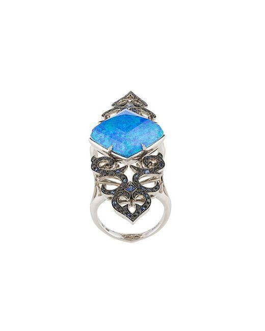 Stephen Webster | Blue Crystal Haze Long Finger Ring | Lyst