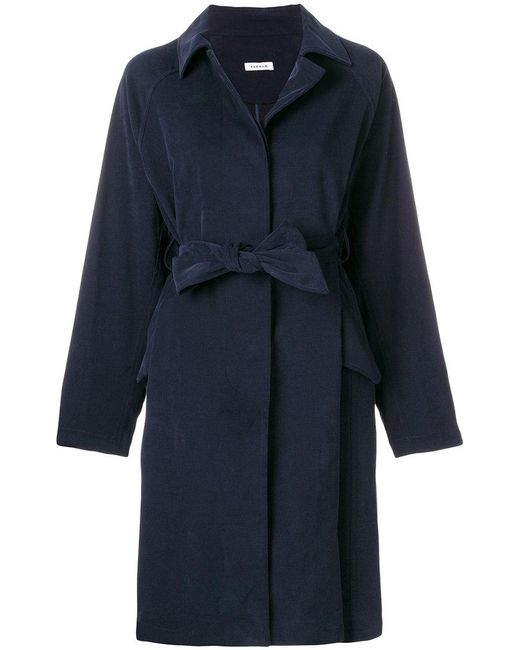 P.A.R.O.S.H. | Blue Bow Tied Coat | Lyst