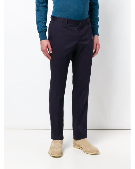 With Paypal Cheap Online Discount Shop Offer tailored straight-leg trousers - Blue Etro Factory Price Outlet Discount Authentic FMMad9A