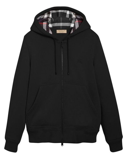Burberry - Black Sweat zippé à capuche for Men - Lyst