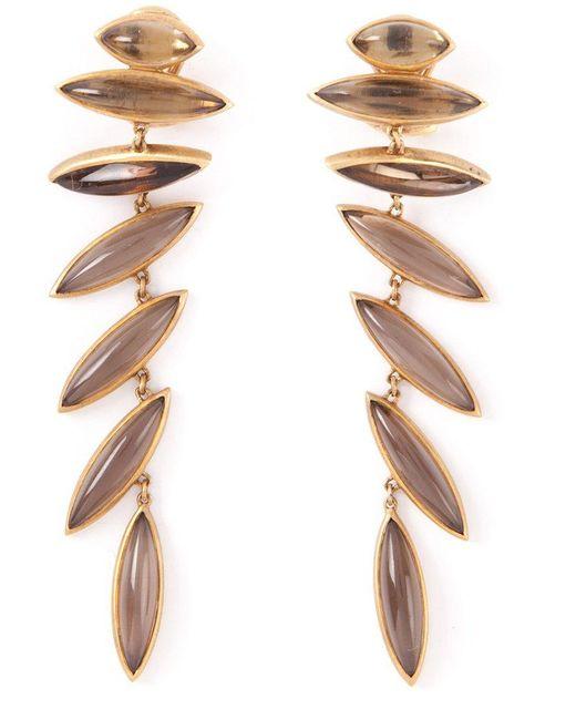 Antonio Bernardo | Metallic 18kt Yellow Gold 'wing' Clip-on Earrings | Lyst