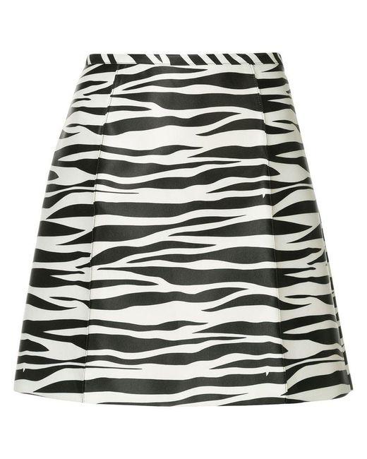we11done - Black Zebra Print A-line Skirt - Lyst