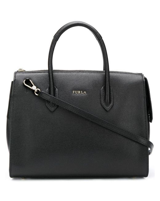 Furla - Black Pin Satchel Bag - Lyst