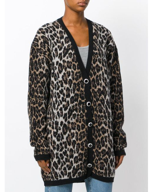 Magda butrym Leopard Print Cardigan in Black - Save 45% | Lyst