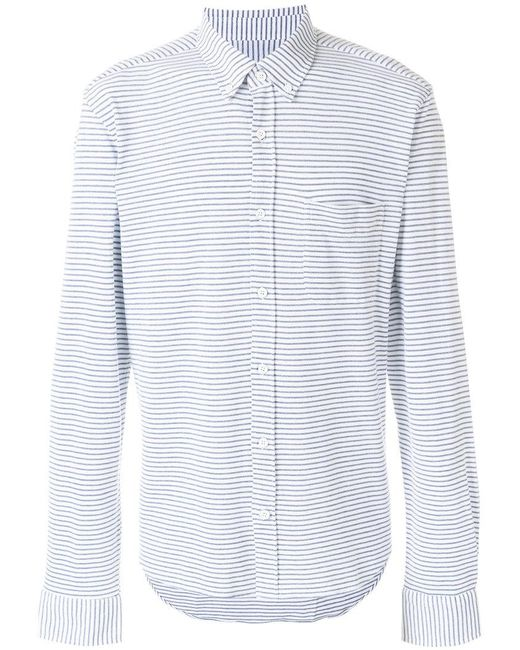 Orlebar Brown - Blue Striped Chest Pocket Shirt for Men - Lyst