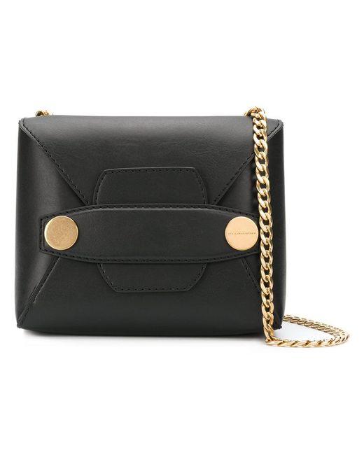Stella McCartney - Black Stella Popper Shoulder Bag - Lyst